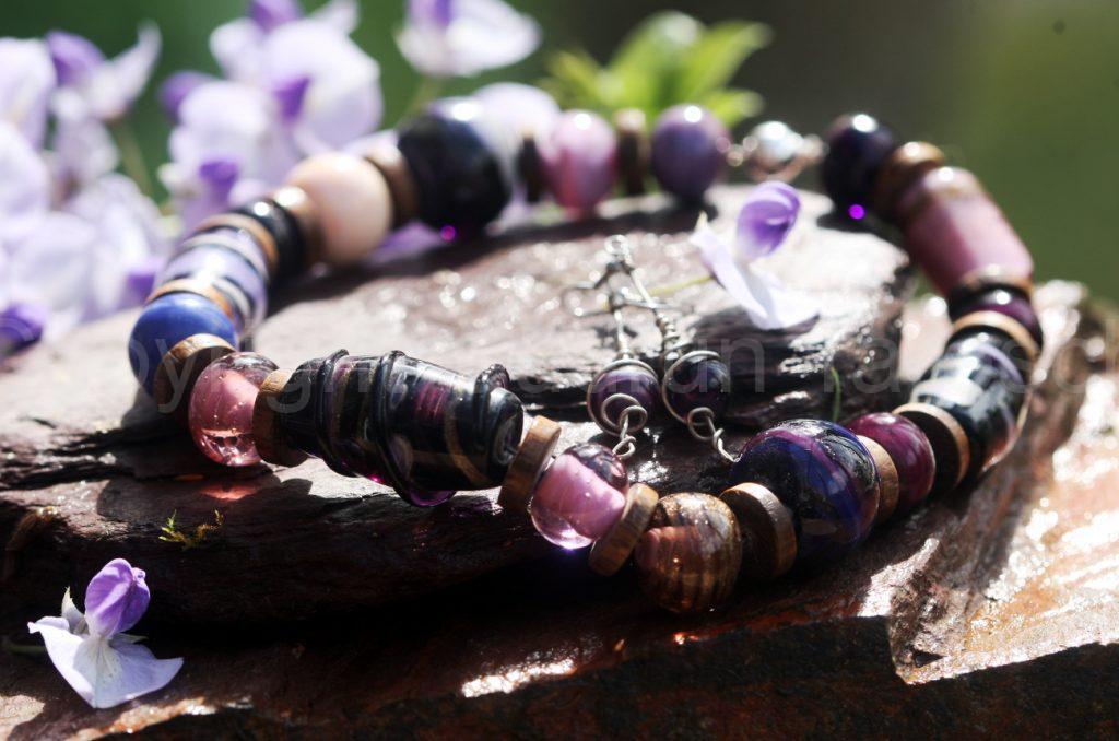 big purple bead necklace s